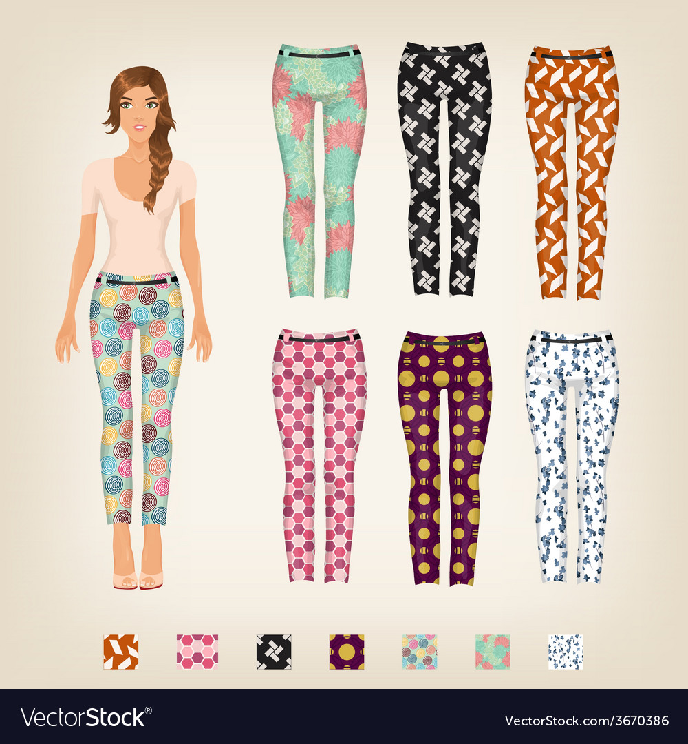 Dress up paper doll with an assortment of