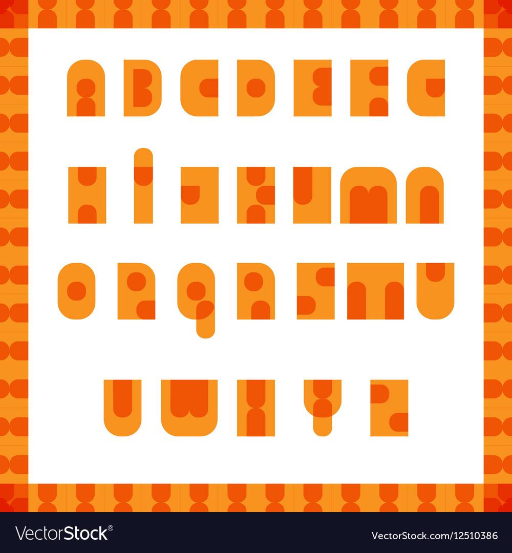 English alphabet pop art retro font