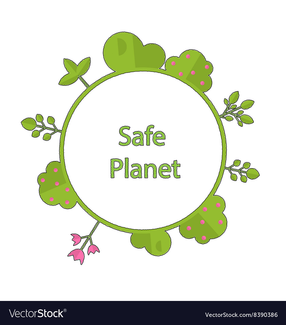 Frame form circle green earth plant flower cry
