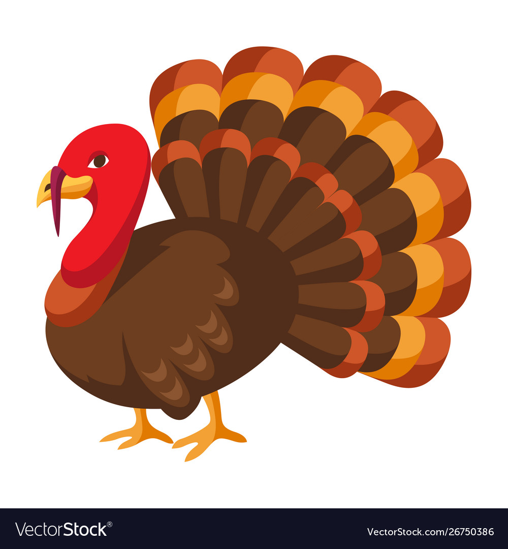 Happy Thanksgiving Turkey Royalty Free Vector Image