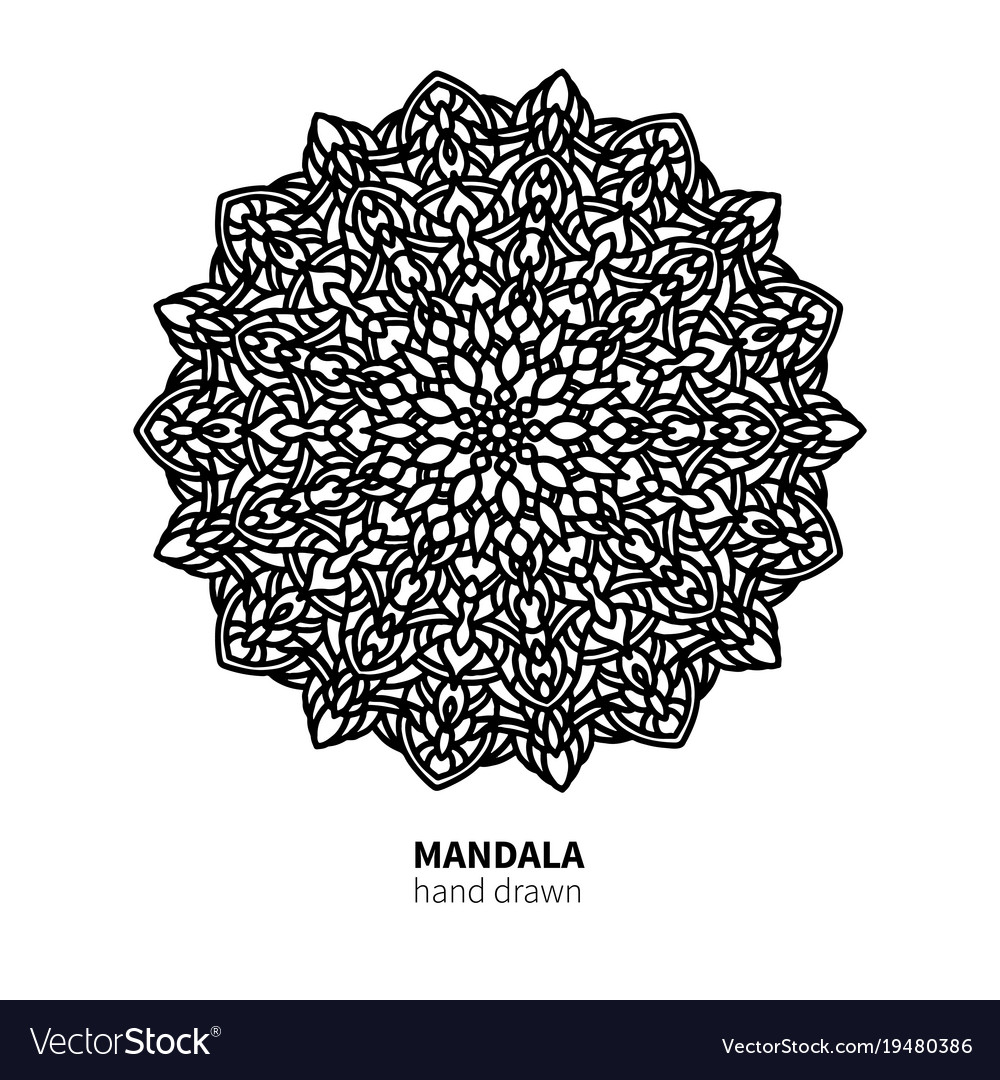 Mandala flower drawing decorative boho