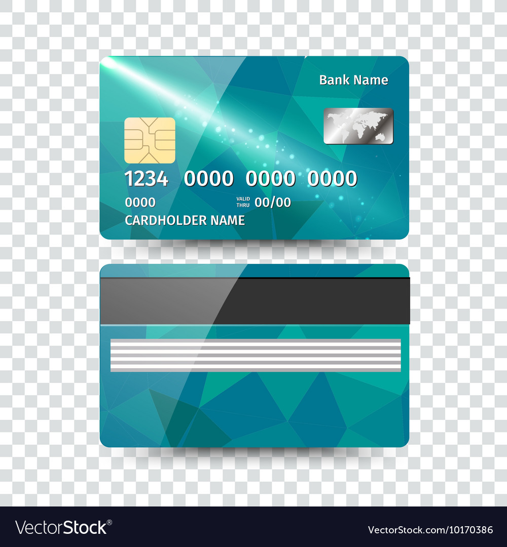 Realistic detailed credit card with abstract
