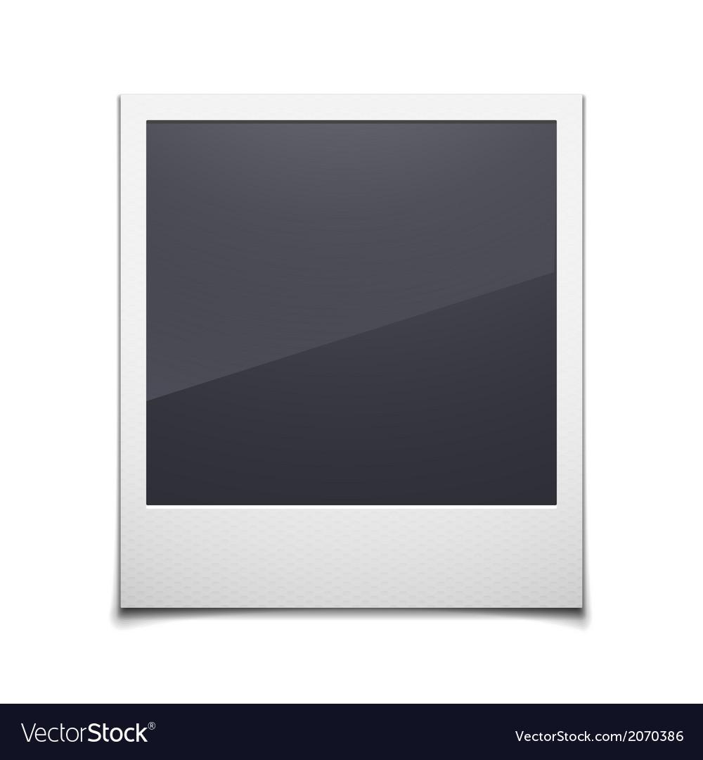 Retro photo frame isolated on white background vector image