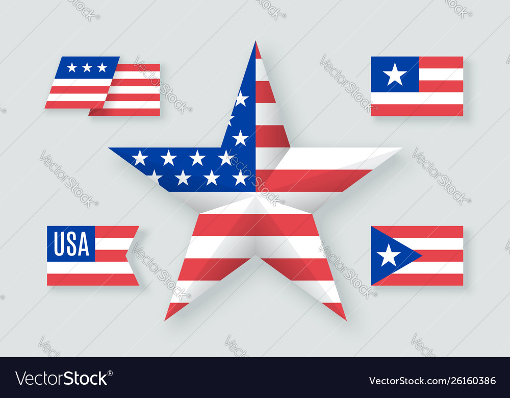 Set usa symbols and design elements