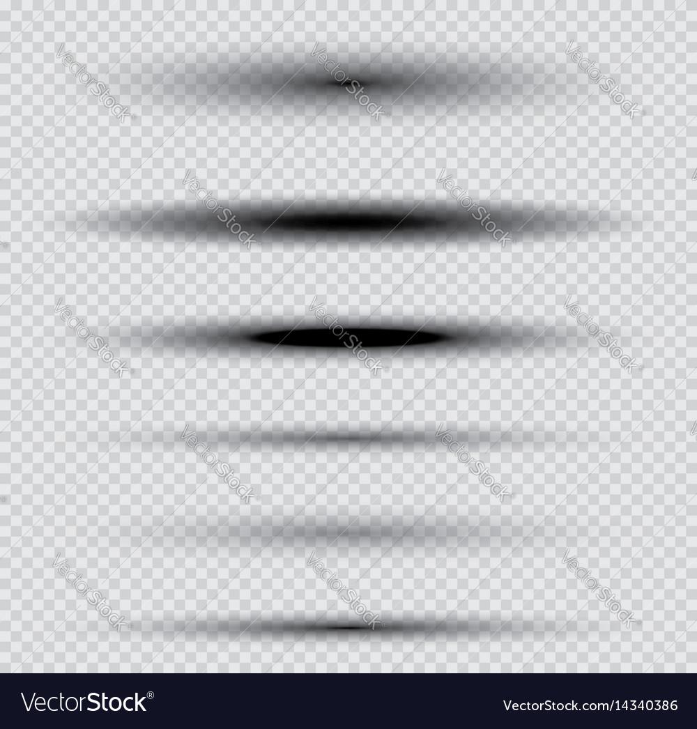 Shadows set on transparent background
