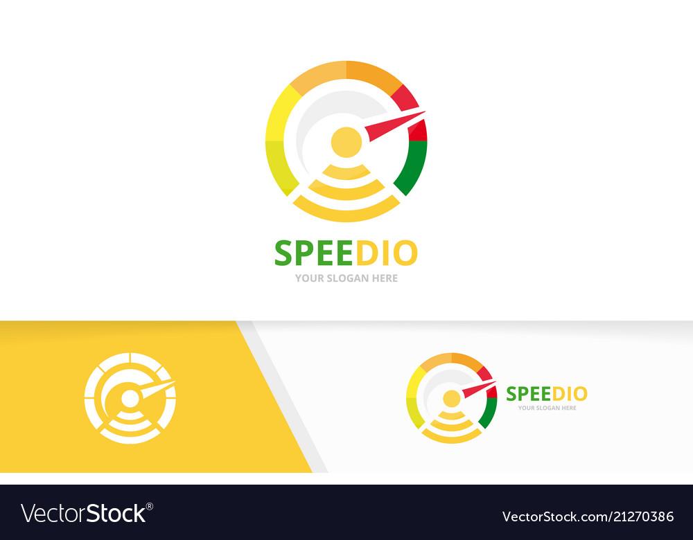 Speedometer and wifi logo combination