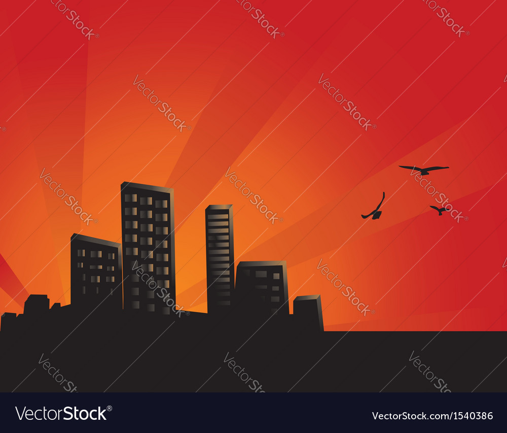 Sunset City Background