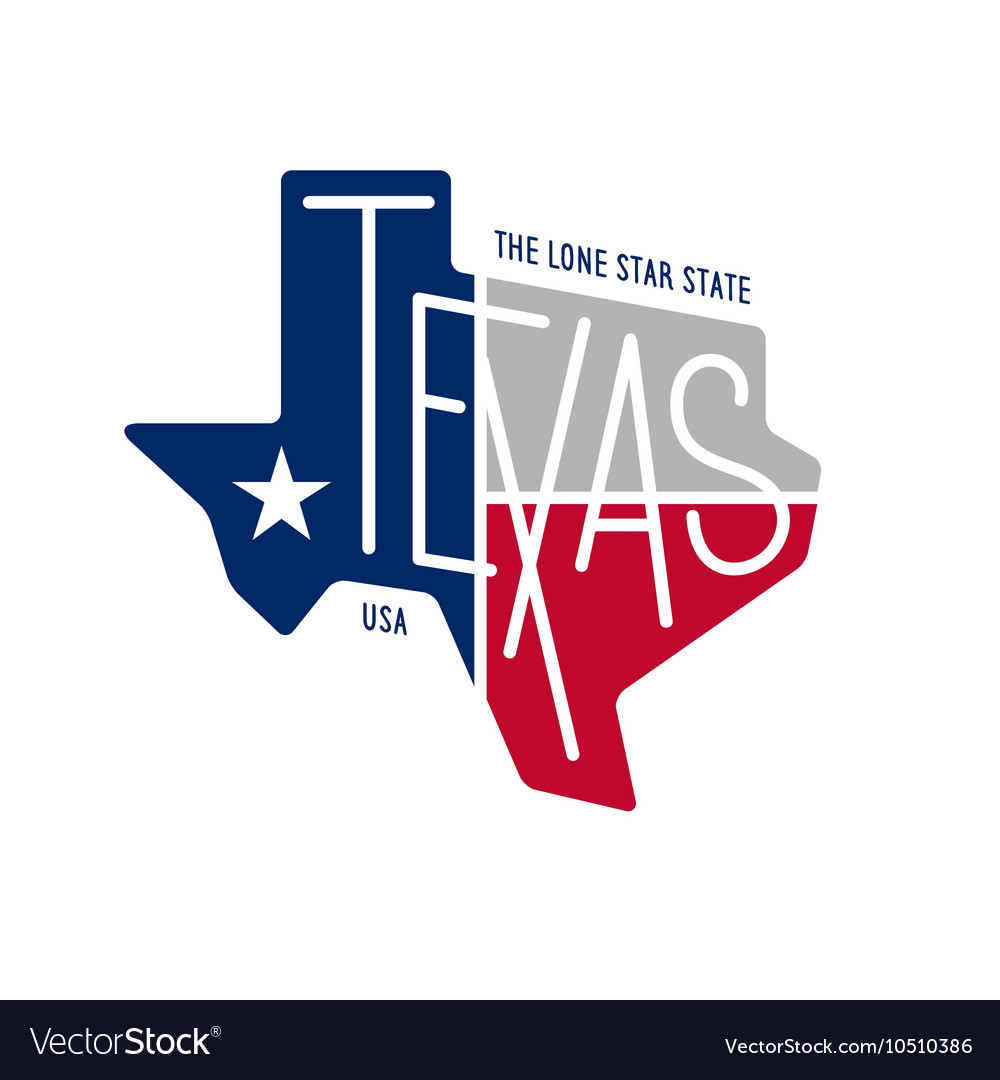 Texas Related T Shirt Design The Lone Star State Vector Image