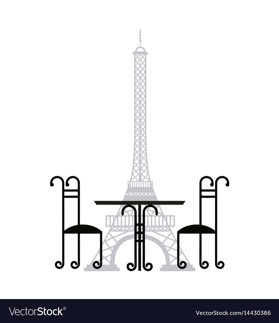 Tower eiffel french culture vector image
