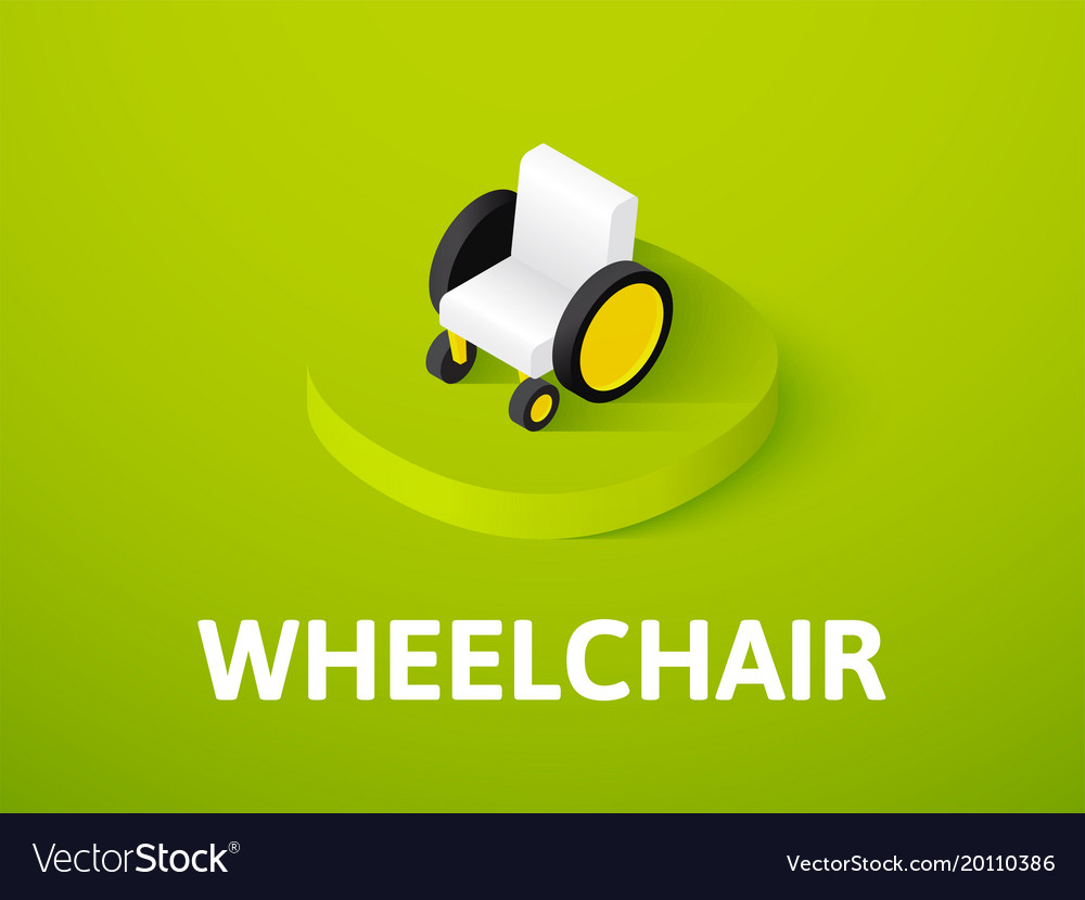 Wheelchair isometric icon isolated on color