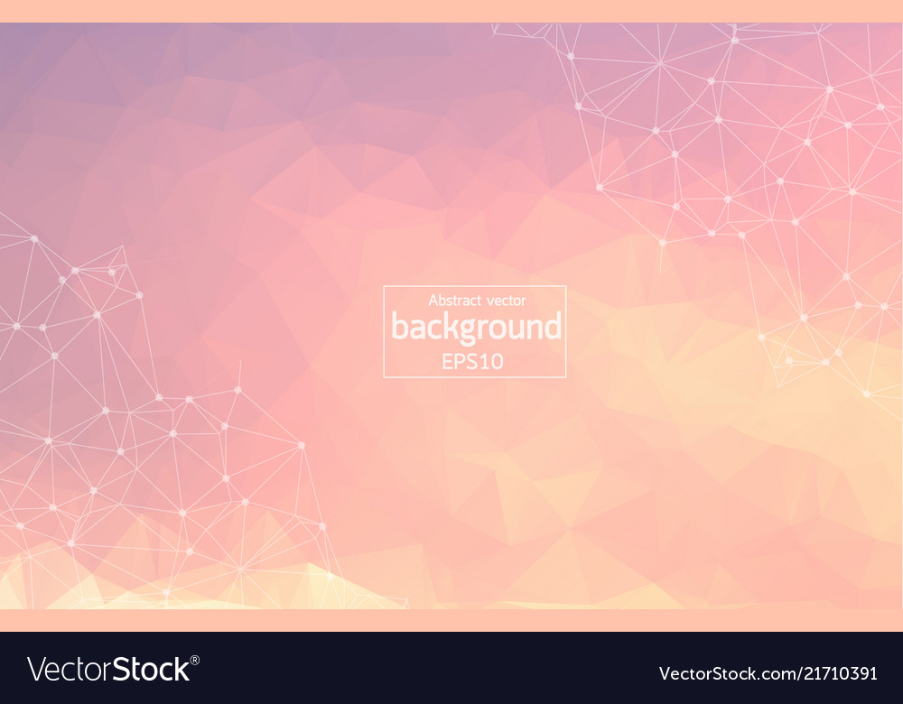 Abstract pink polygonal space background with