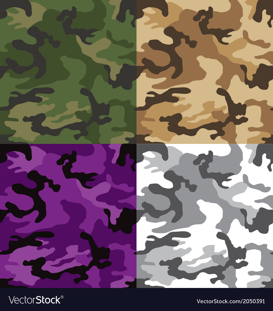 Camouflage multi seamless pattern