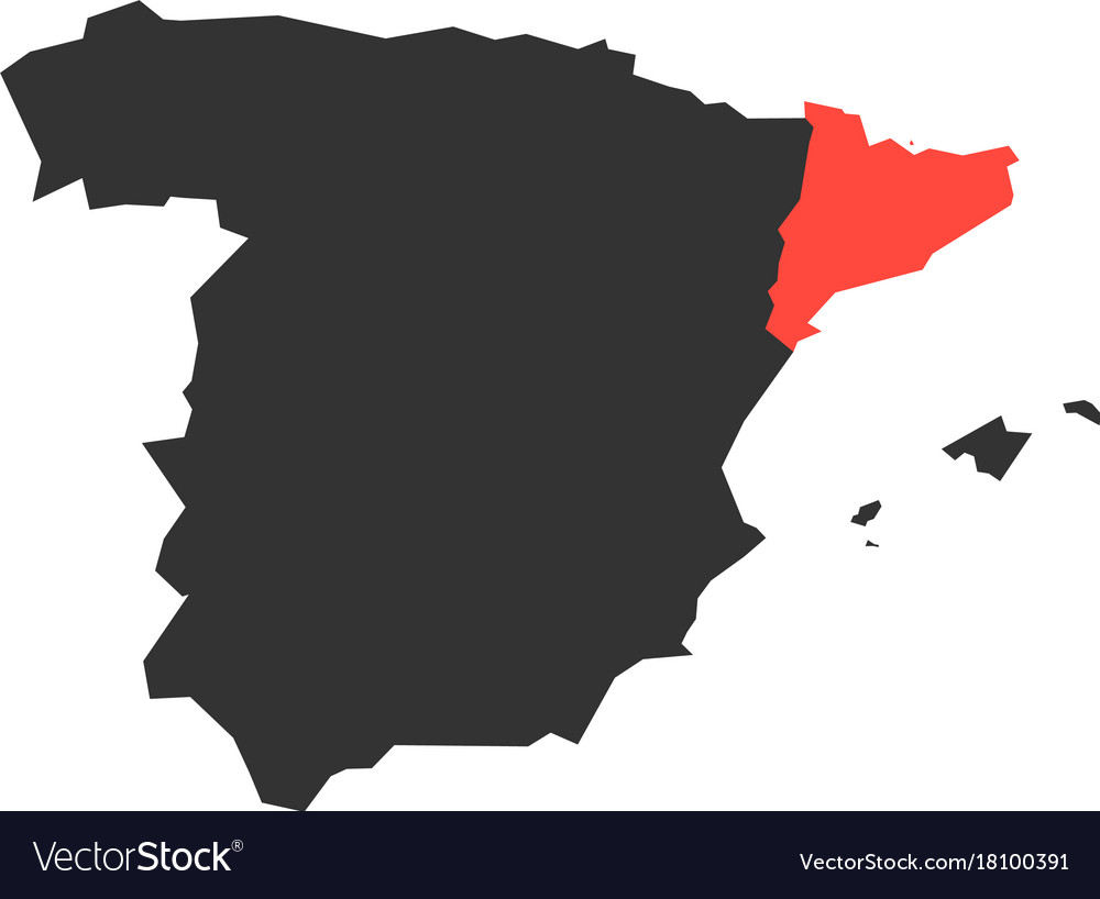 Map Of Spain And Catalonia.Catalonia Region In A Map Of Spain