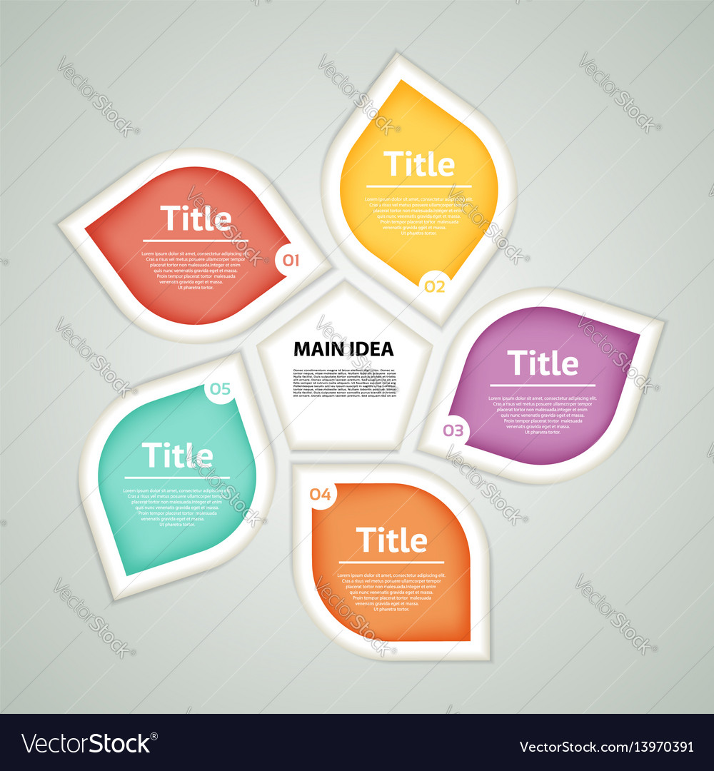 Circle infographic template for diagram graph
