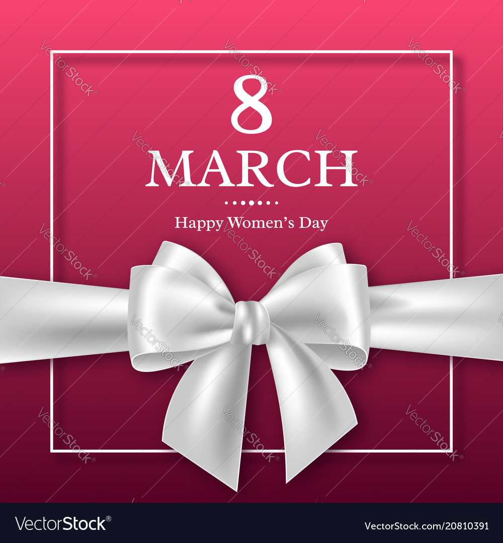 March 8 greeting card for international womans day