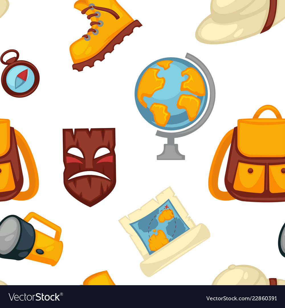 Traveling and adventures symbols set boots and