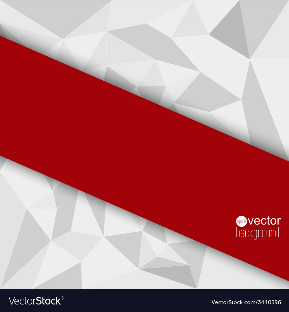 Abstract background with red triangles and