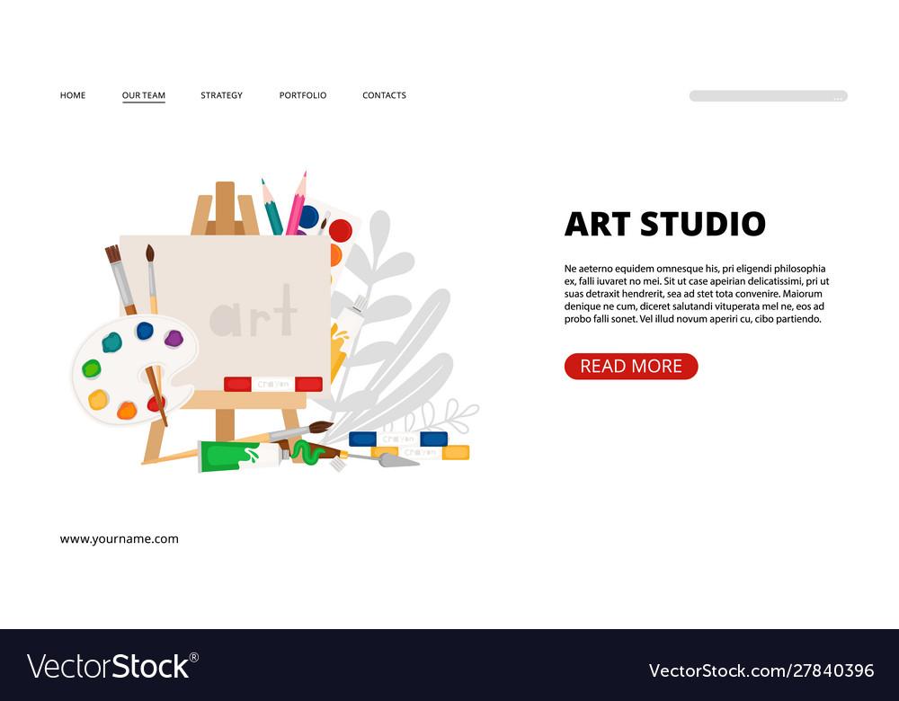 Art studio landing page