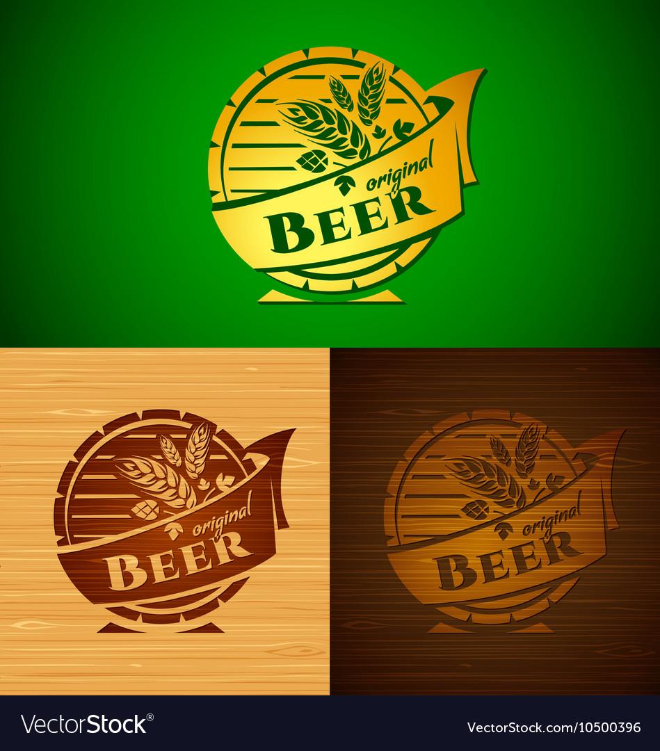 Set of templates beer emblem