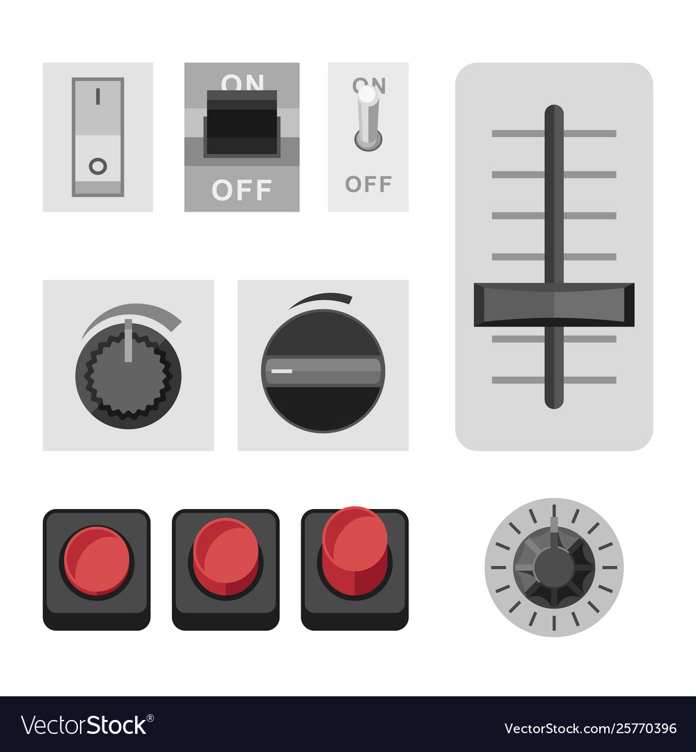 Switches flat icons