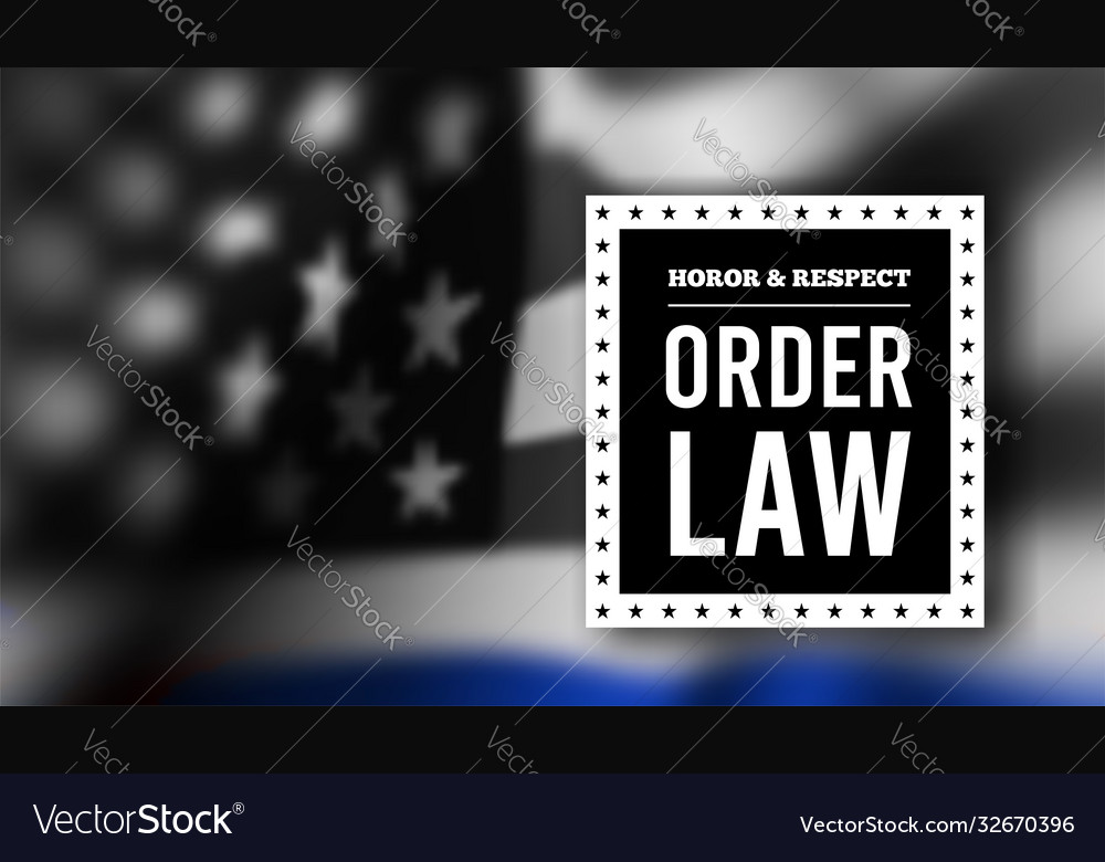 Thin blue line usa flag police symbol