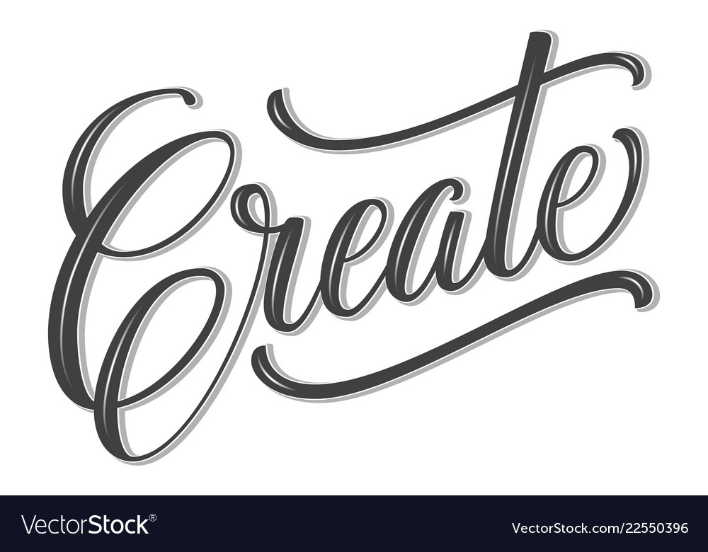 Volumetric create phrase hand drawn