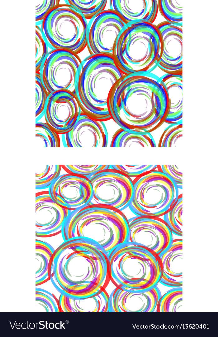 Abstract seamless circle patterns in modern grunge
