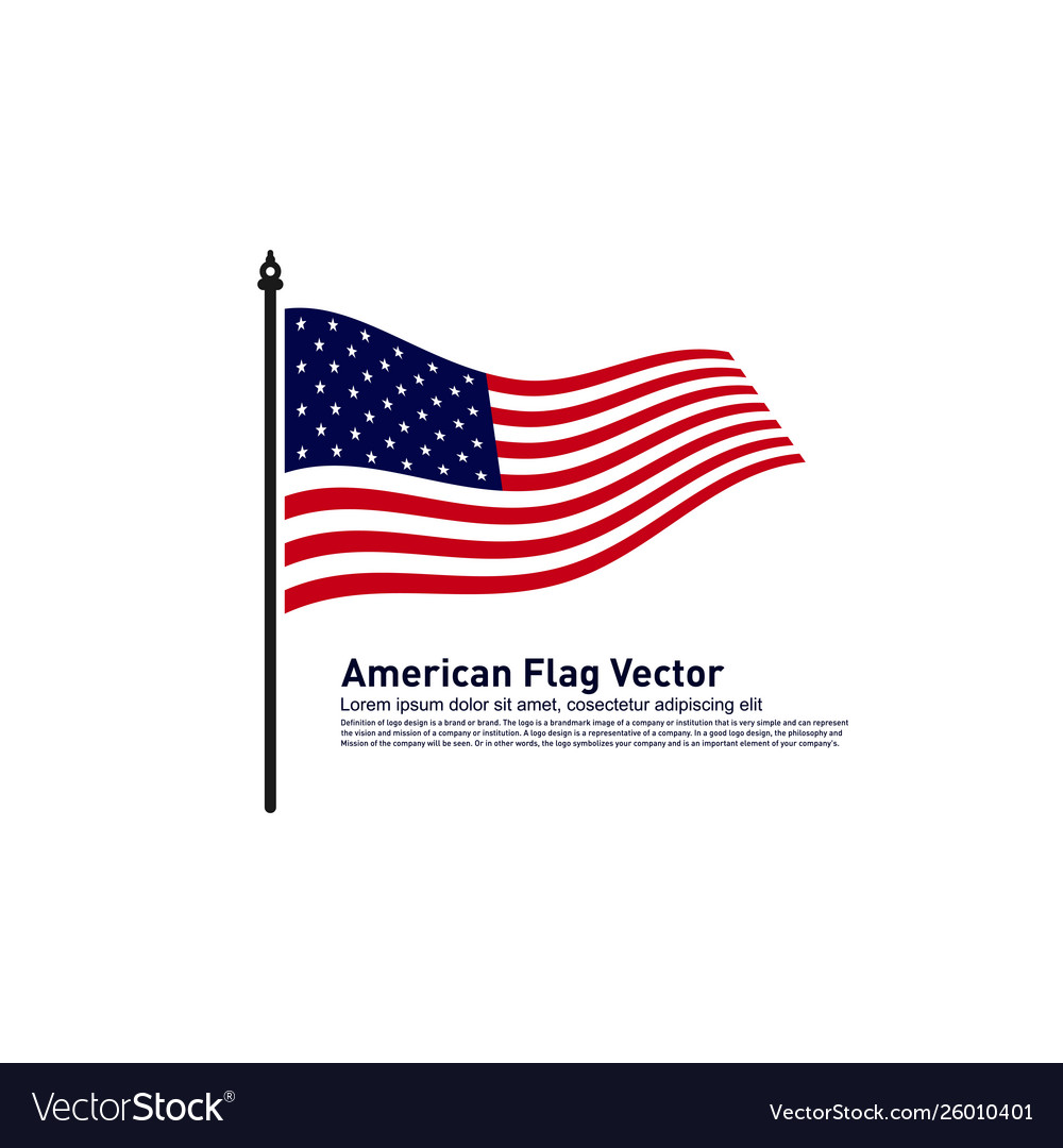 American flag design template icon symbol