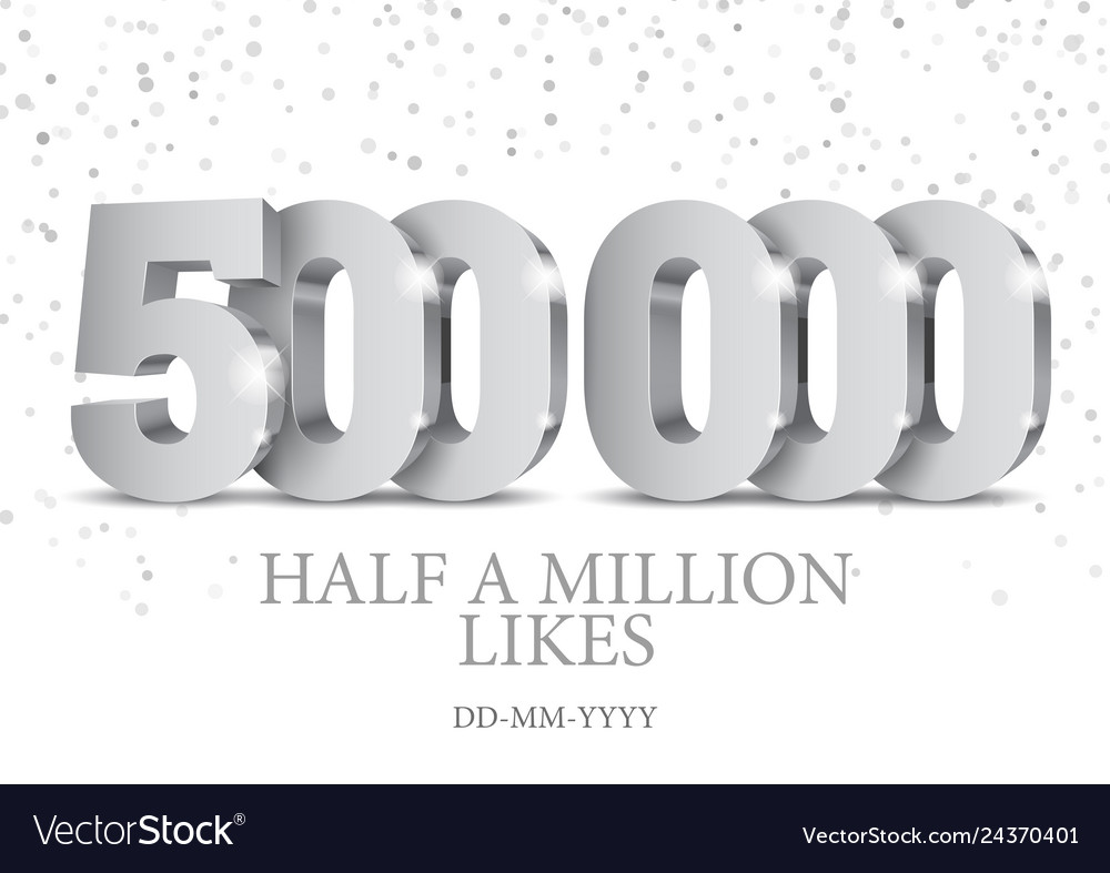 Anniversary or event 500000 silver 3d numbers