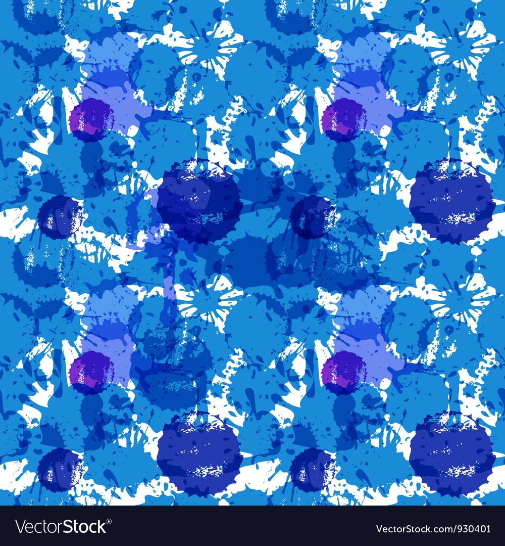 Blue ink blots vector image