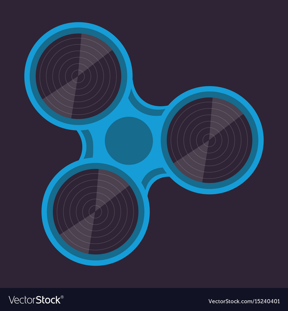 Fidget spinner spin roller vector image