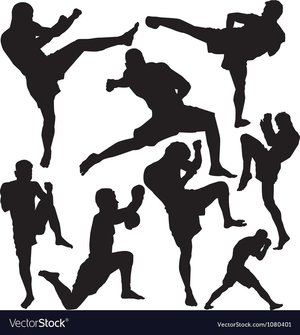 Muay Thai vector image