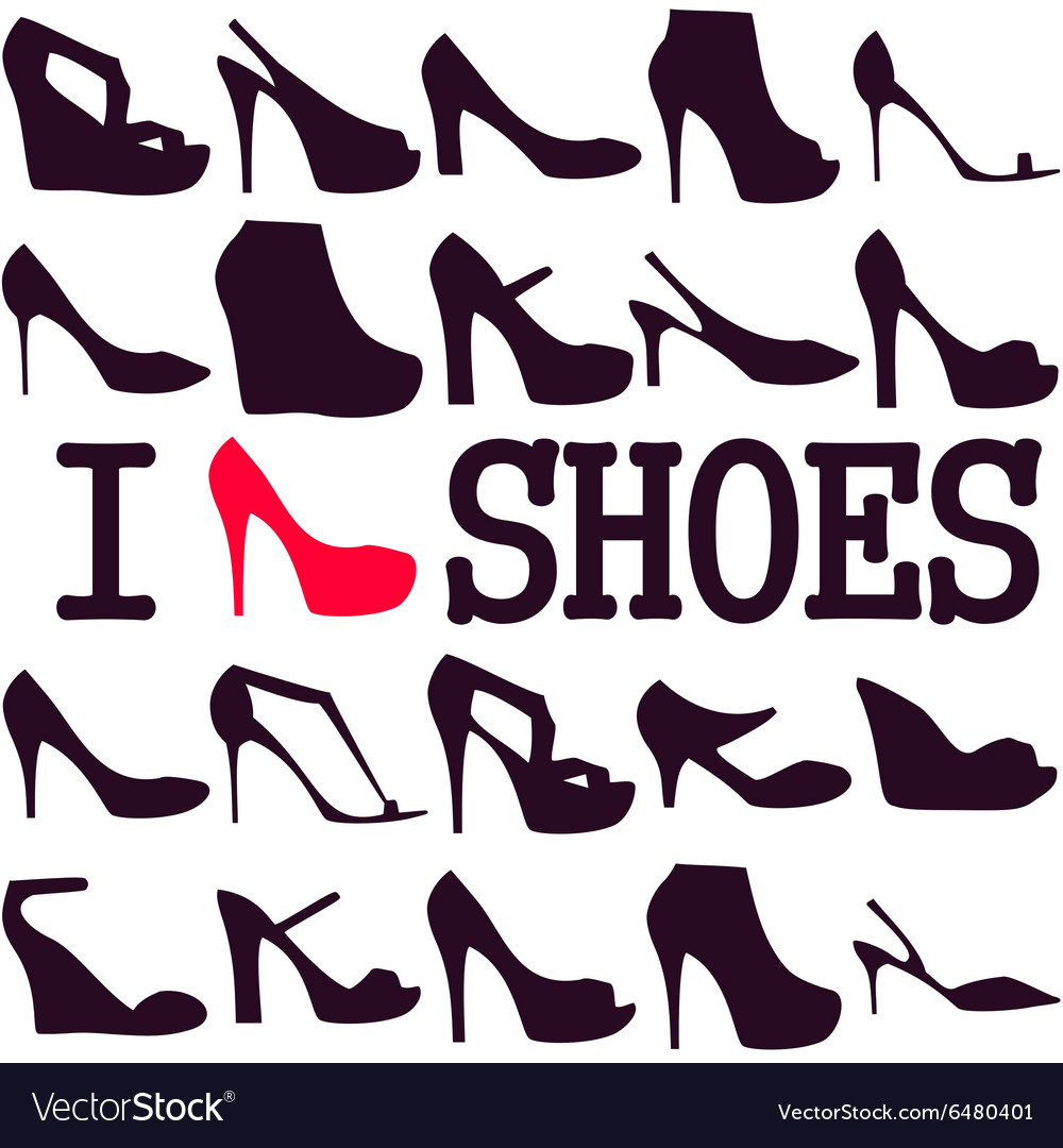 Poster I love shoes