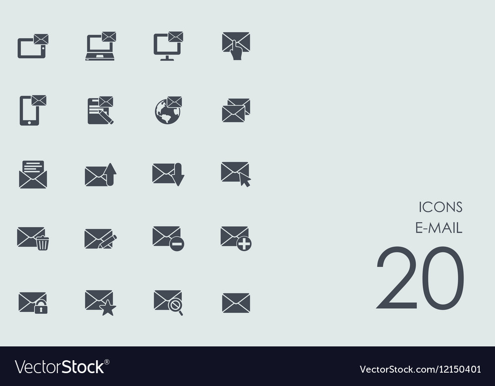 Set of e-mail icons