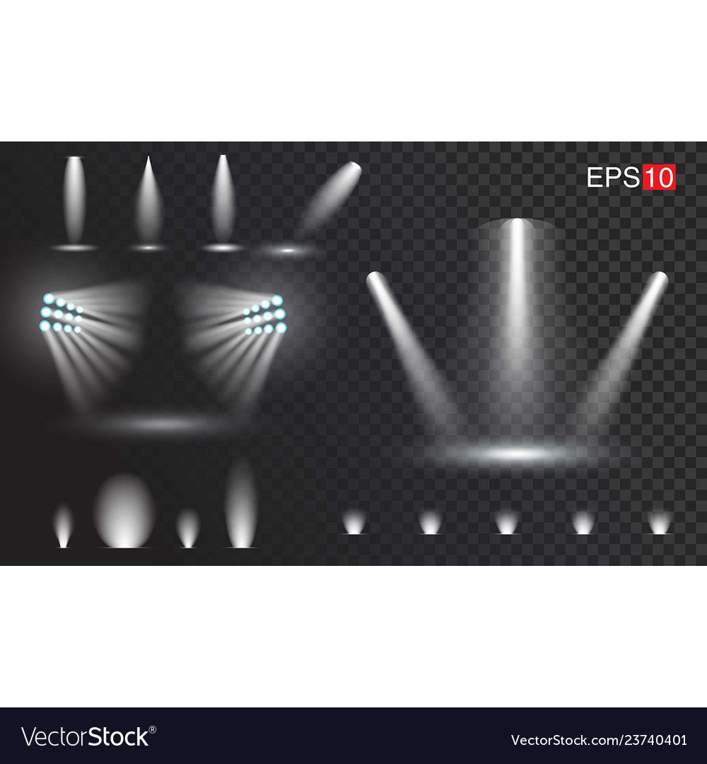Set of transparant spotlights easy to use