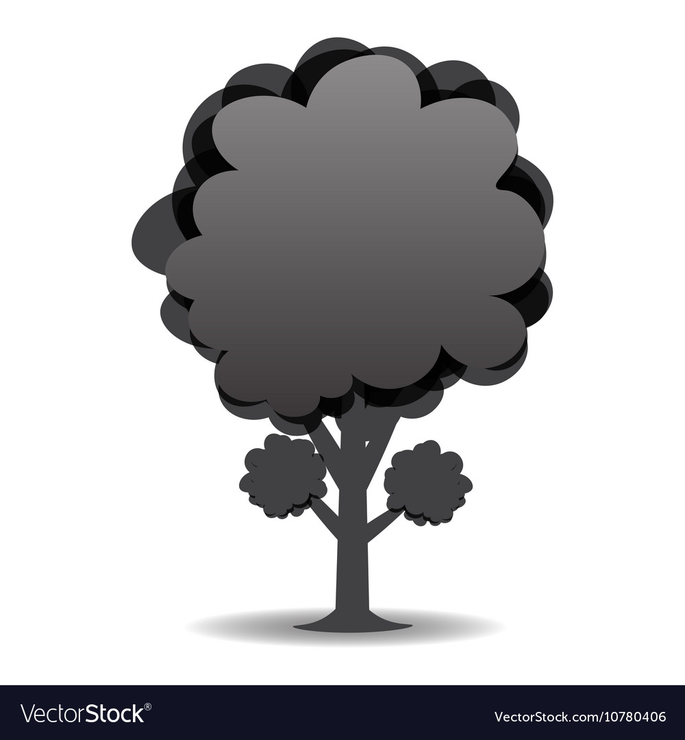 A stylized drawing of a tree Black-and-white