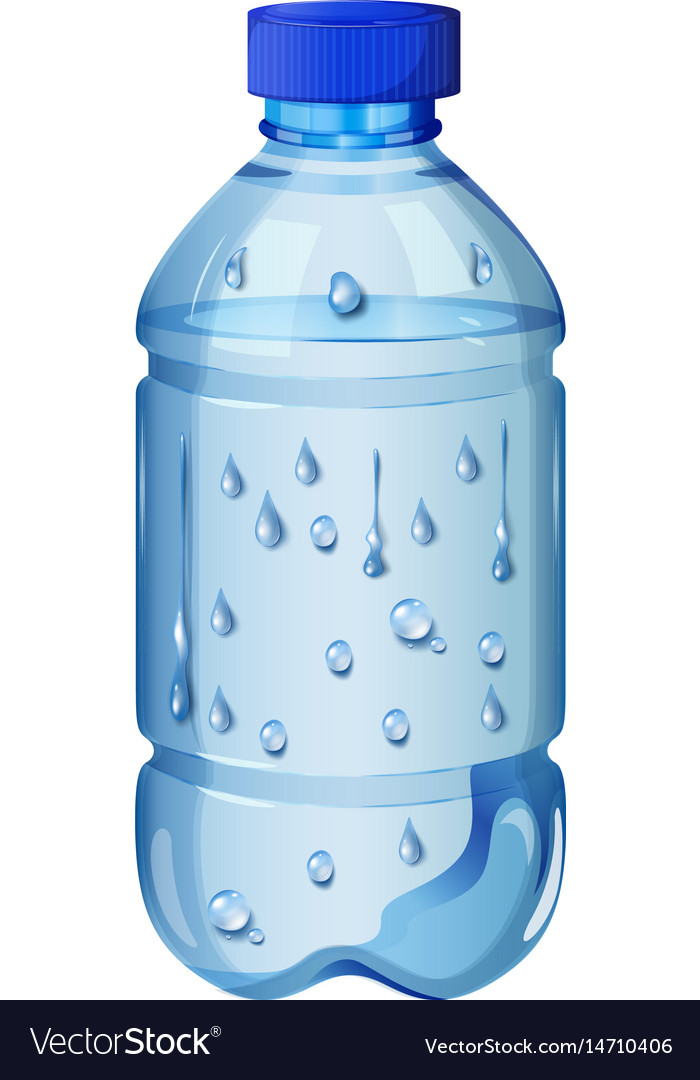Drinking water in plastic bottle vector image