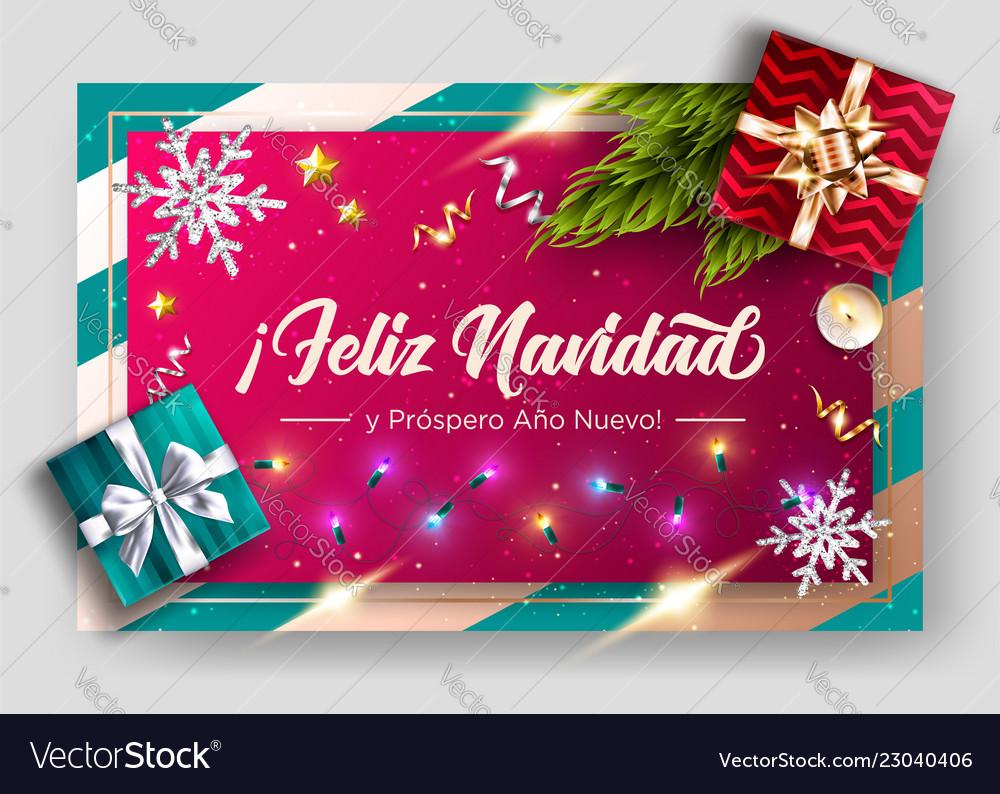 Feliz Navidad Joyeux Noel 2019.Feliz Navidad Y Prospero Ano Nuevo Merry