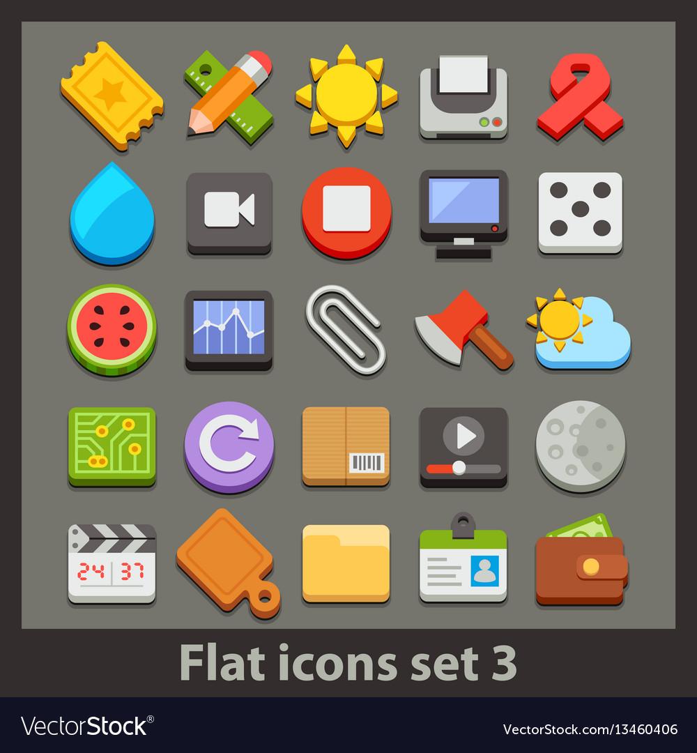 Flat icon-set 3