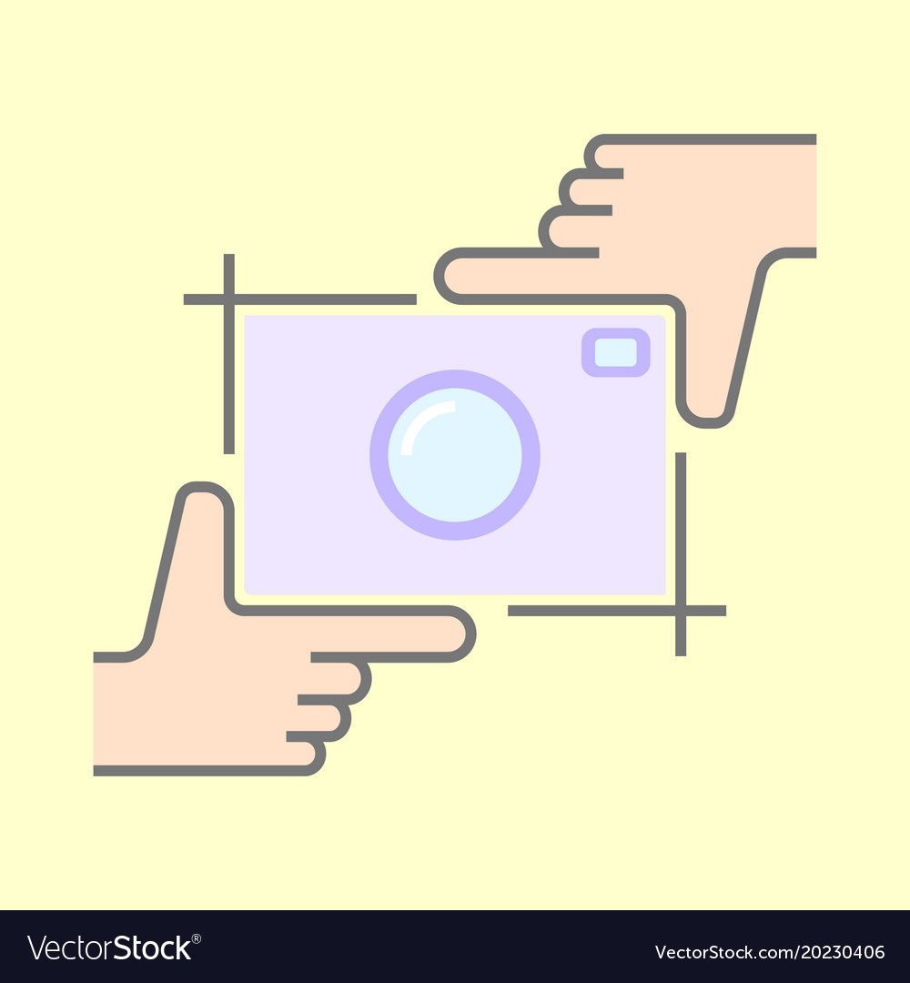 Human hands doing cropping symbol isolated