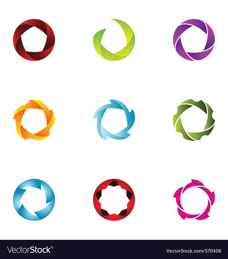 Logo design elements set 61 vector image