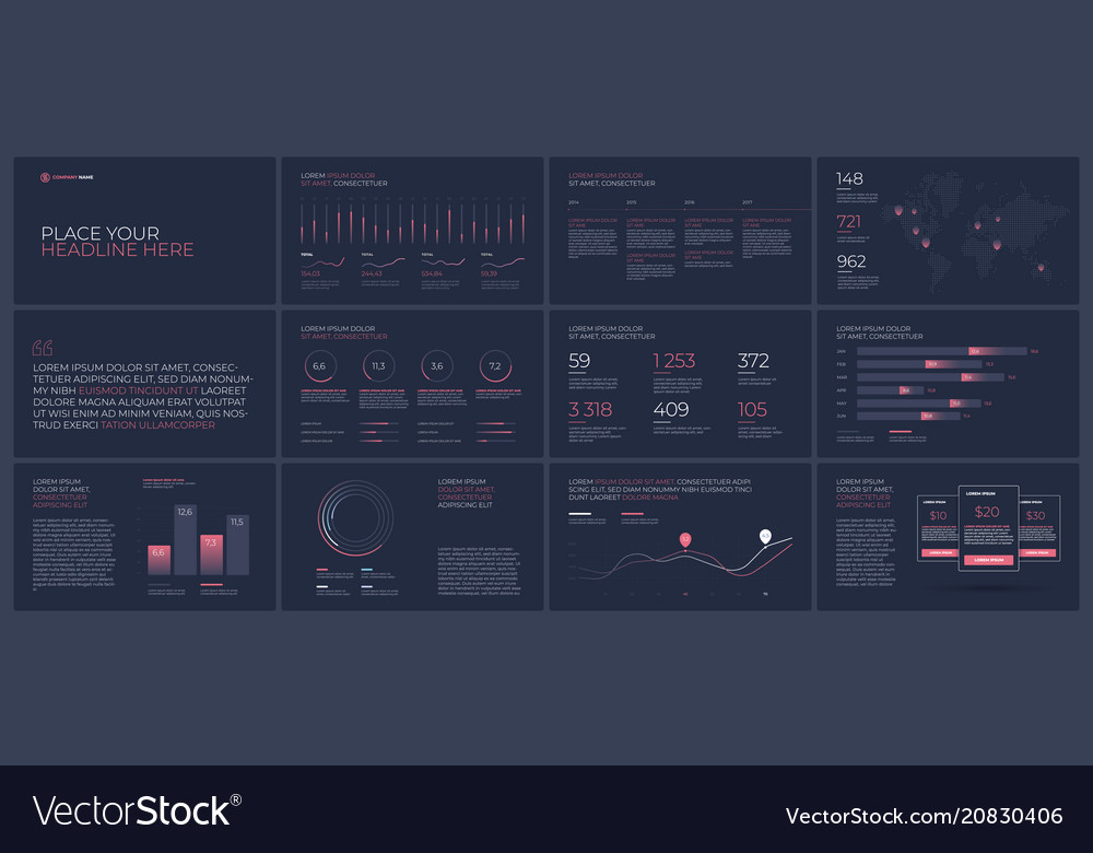 Presentation templates elements