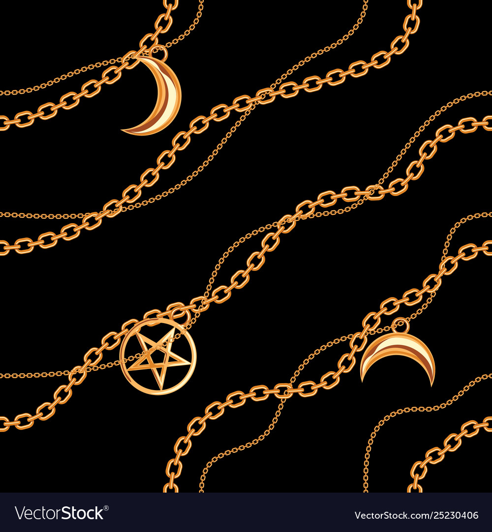Seamless pattern background with pentagram and
