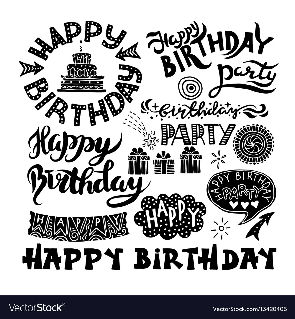 Chalkboard, Invitation, Birthday & Party Vector Images (39)