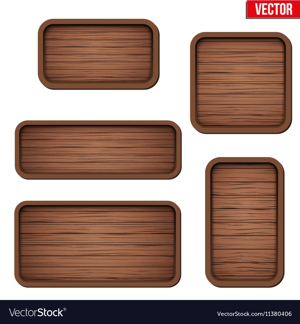 Set of old wooden boards vector image