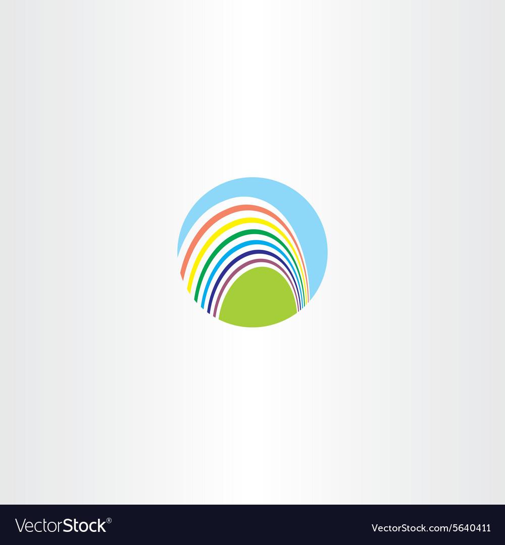 Circle rainbow logo sign