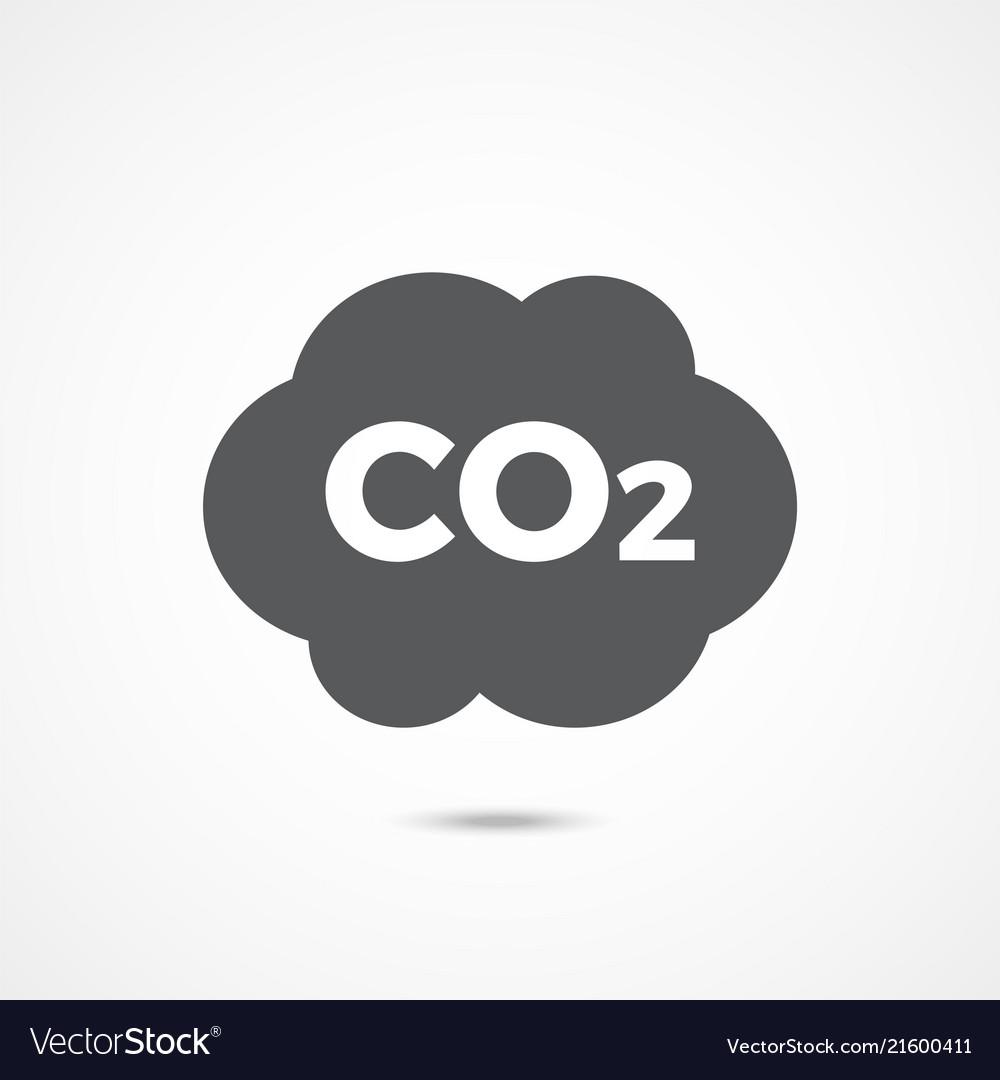 Co2 icon on white