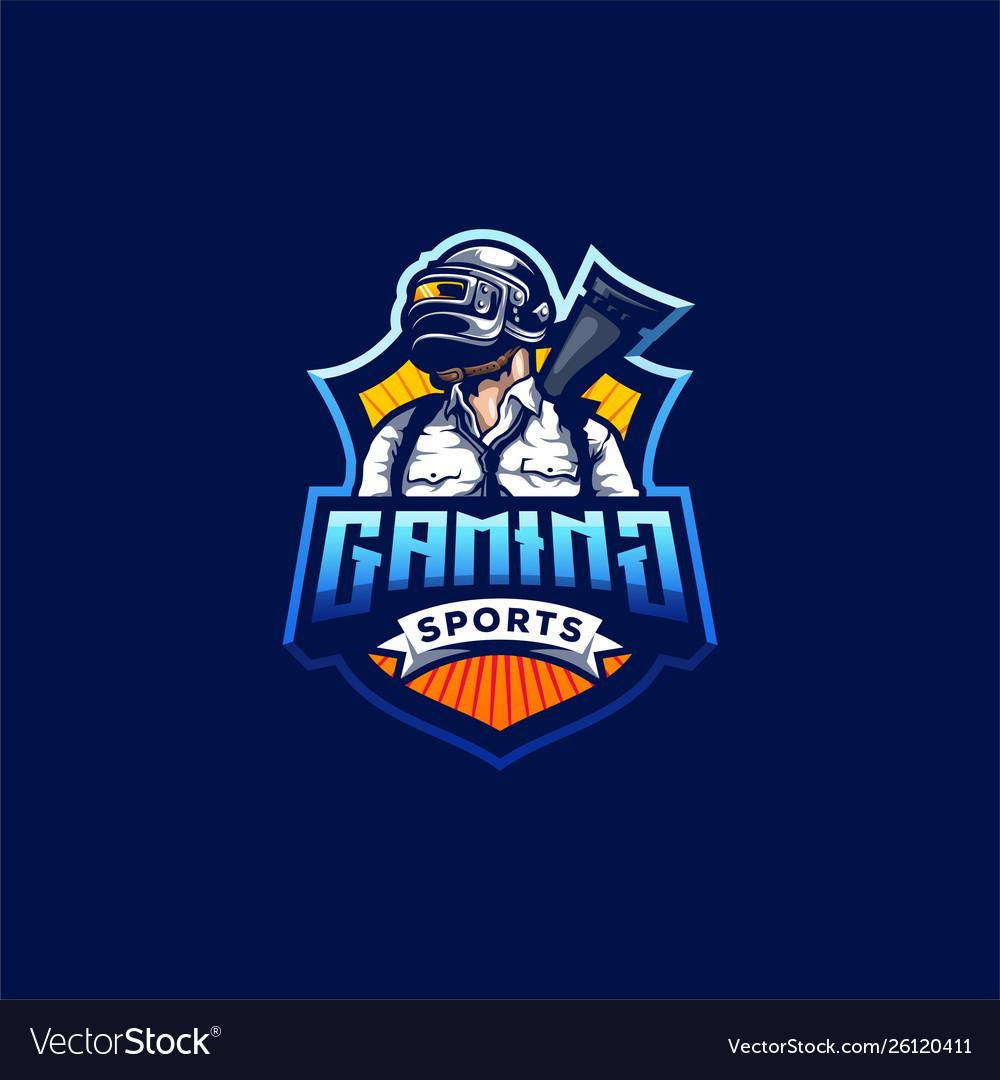 Pubg Gaming Logo Design Royalty Free Vector Image