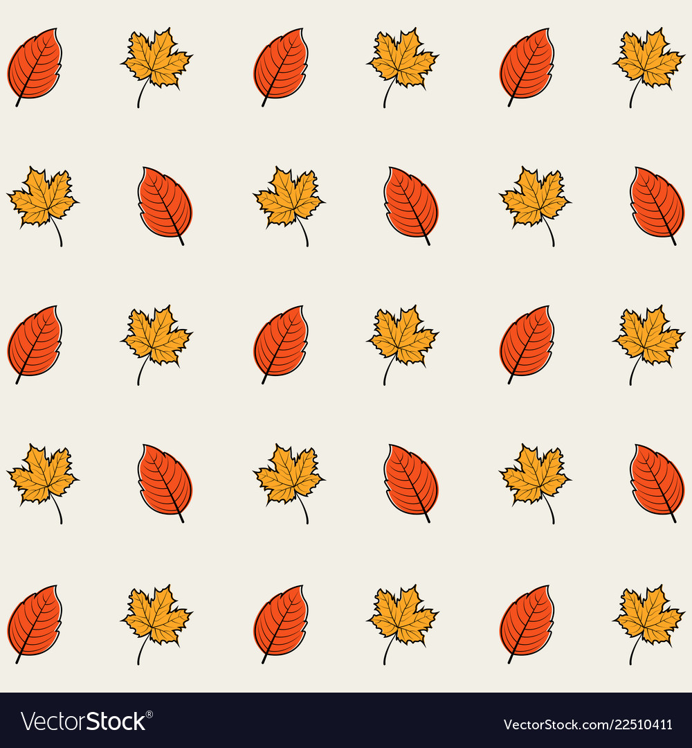 Seamless pattern background autumn leaves