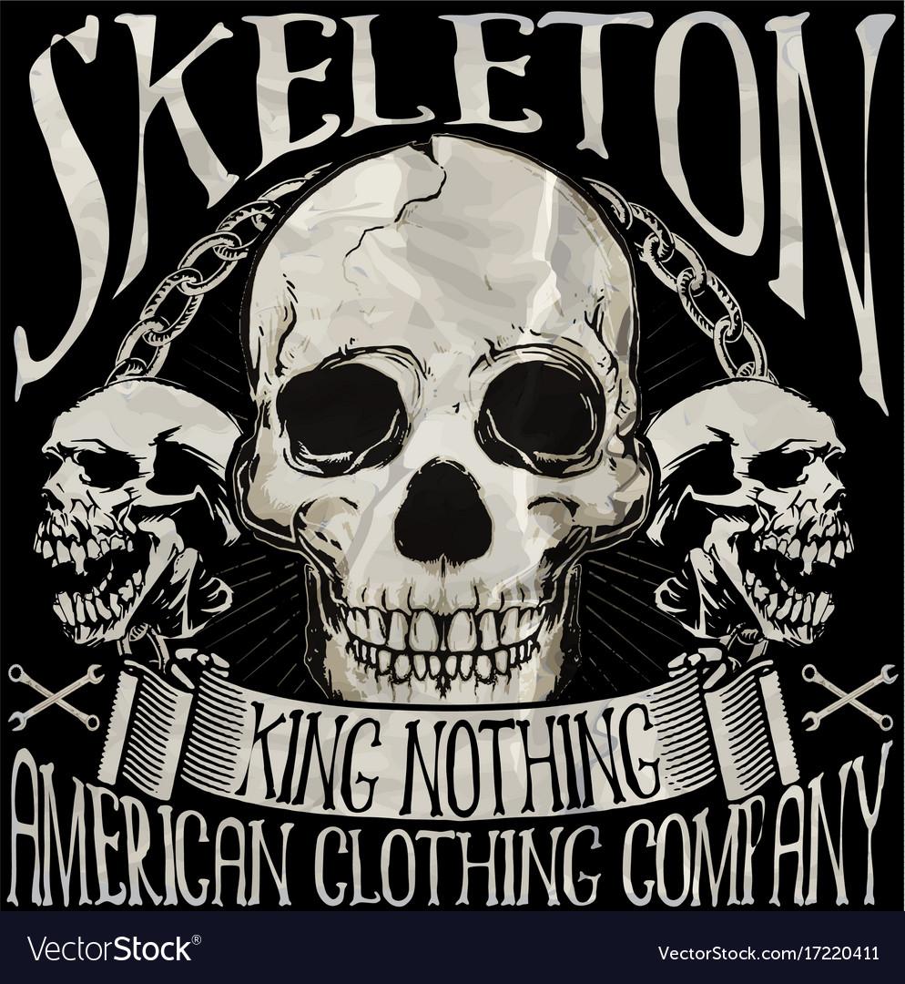 Skull T Shirt Graphic Design Royalty Free Vector Image